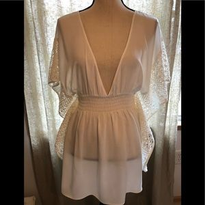 Victoria's Secret White Lace Beach Cover Up Dress